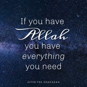 if you have allah